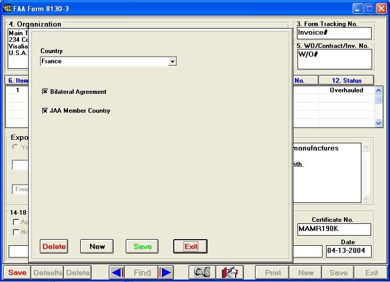 Faa Form 8130 Professional Version
